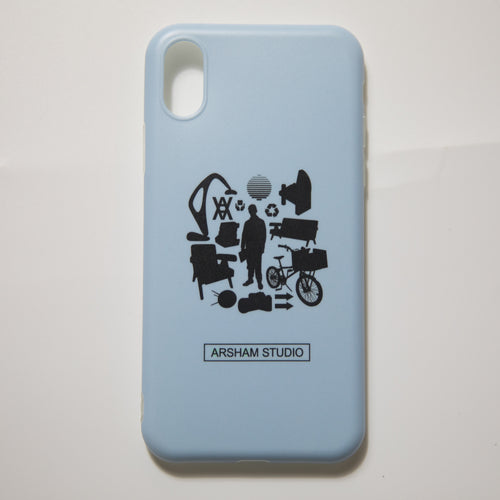 Daniel Arsham Man Chair iPhone X Case (MINT)