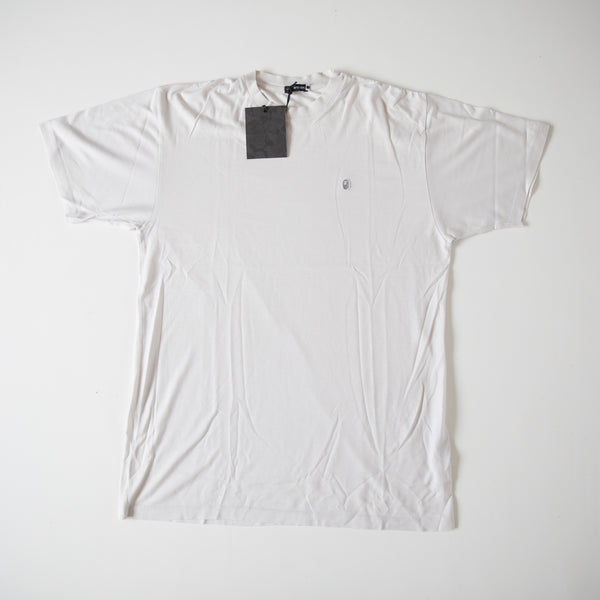 Bape BAPEXCLUSIVE Ape Head One Point Egyptian Cotton Tee White (Large / USED)