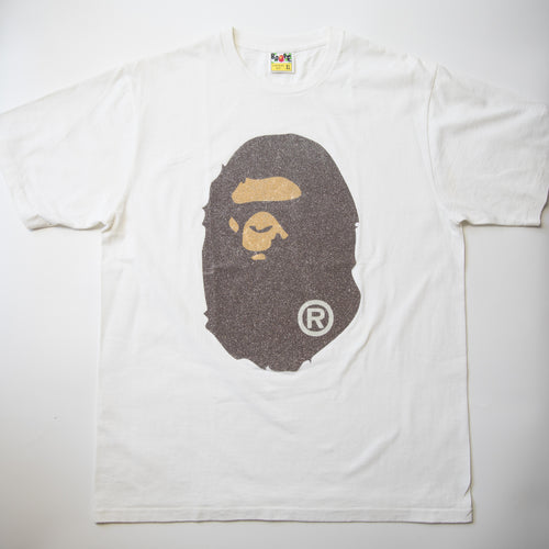 Bape Sparkle Ape Head Tee (XL / USED)