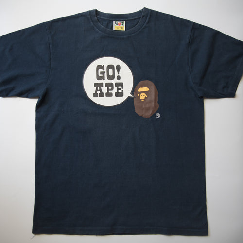 Bape Go Ape Tee Navy (XL / USED)