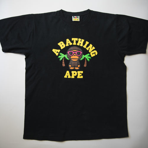 Bape Baby Milo Palm Tree Tee (XL / USED)