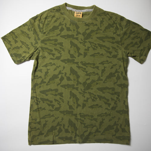 Billionaire Boys Club Fish Camo Tee (Medium / USED)