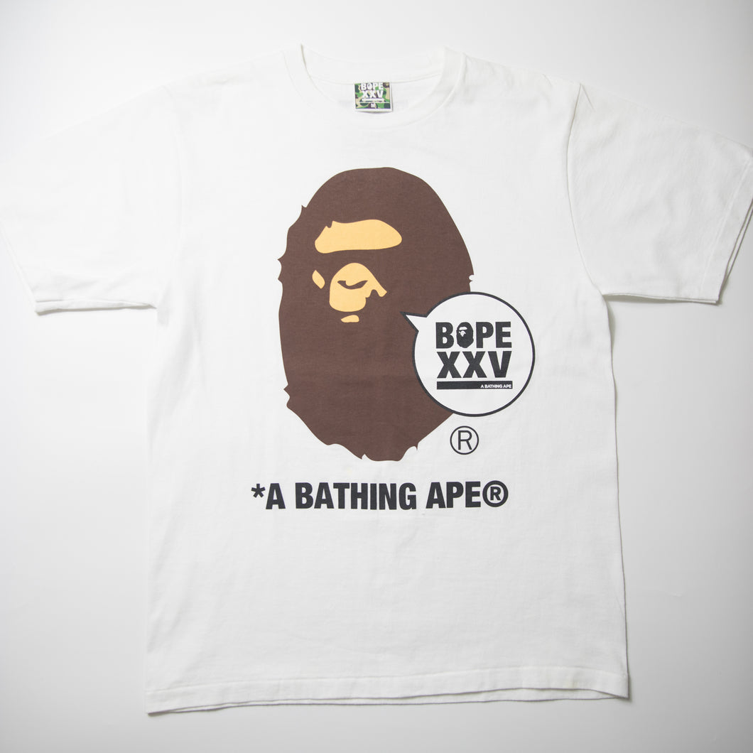 Bape XXV Ape Head Tee (Medium / USED)