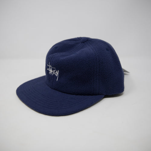 Stussy Smooth Stock Polar Fleece Cap Navy (NEW)