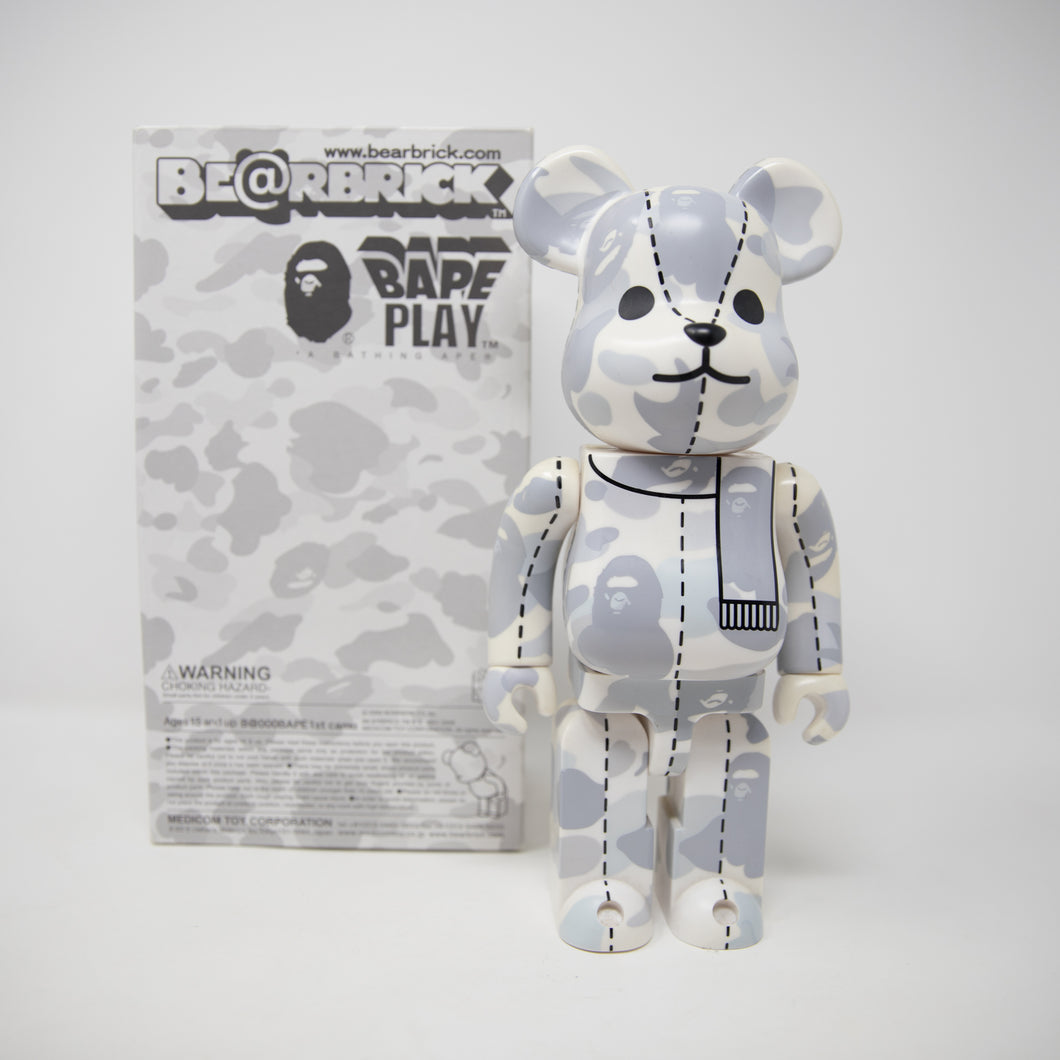 Medicom Toy Bearbrick x Bape White Camo 400% Figure (USED)