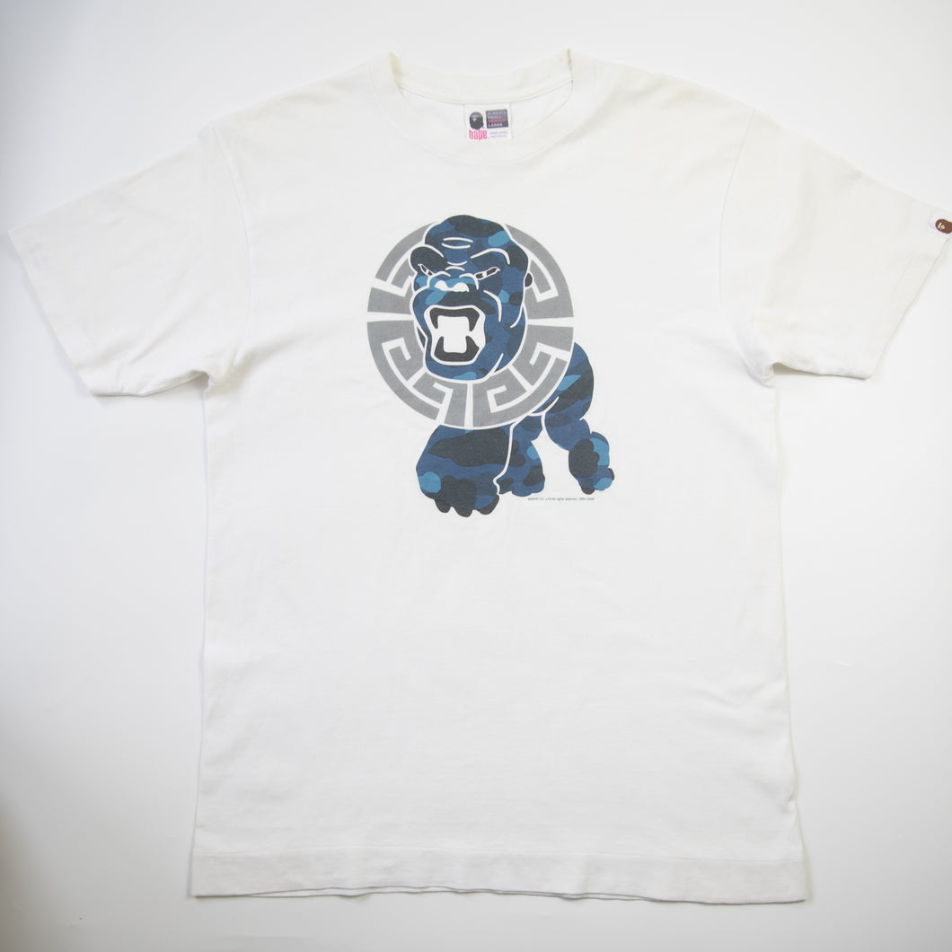 Bape General Blue Camo Tee (Medium / USED)