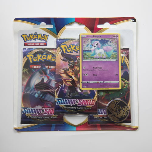 Pokemon 3 Booster Pack Blister - Sword & Shield [Galarian Ponyta] (MINT)