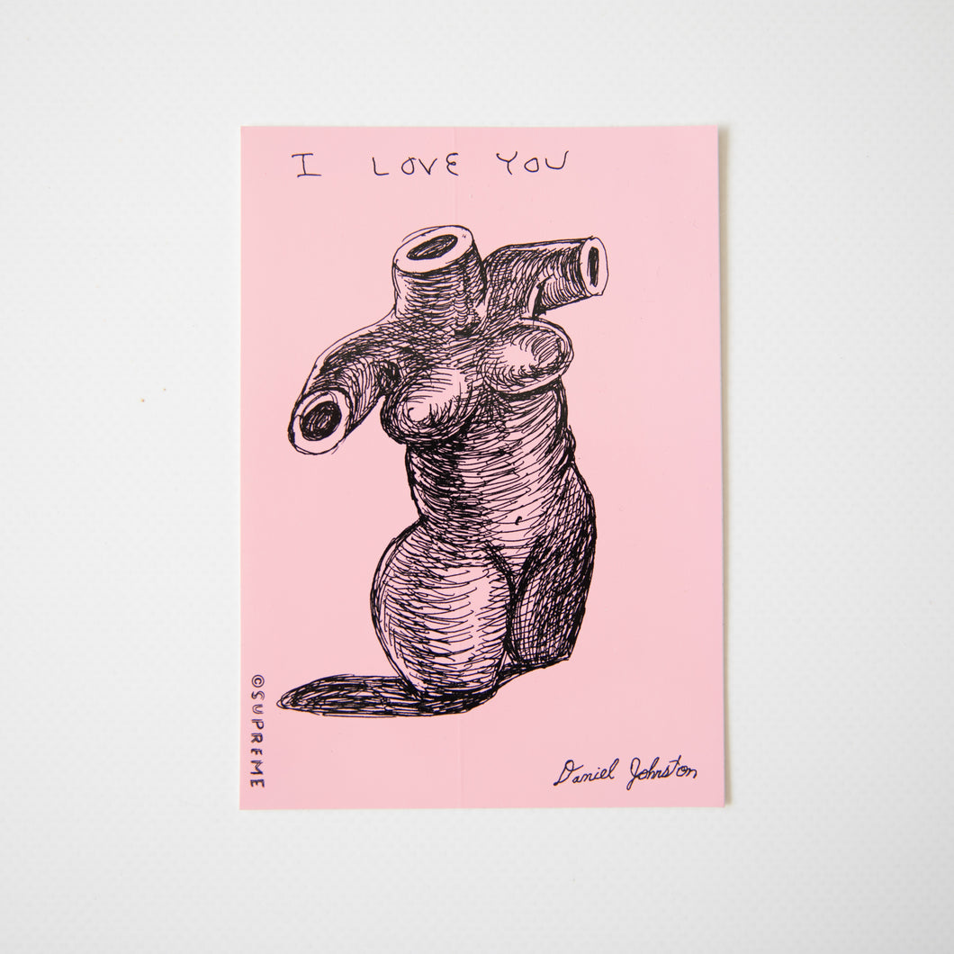 Supreme Daniel Johnston I Love You Sticker Pink (MINT)