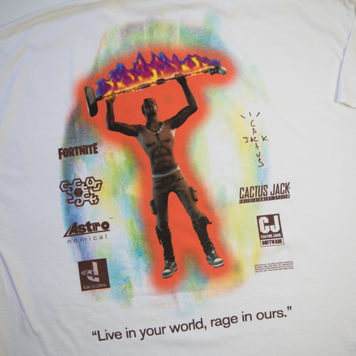 Travis Scott x Fornite The Scotts Rage Emote Tee (XXL / MINT)