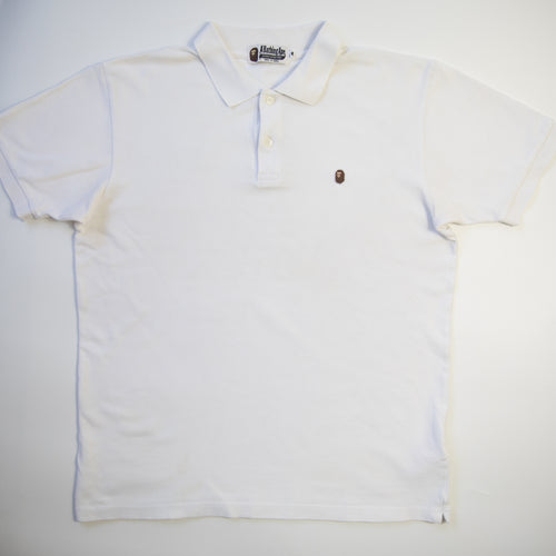 Bape One Point Polo Shirt (Large / USED)