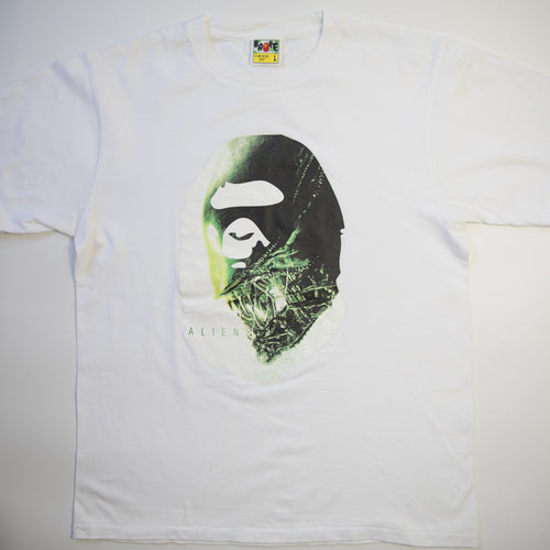 Bape x Alien Ape Head Tee (Large / USED)