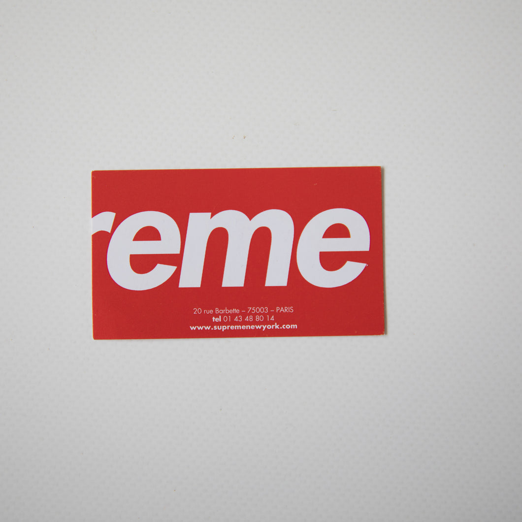 Supreme Paris France Business Card (MINT)