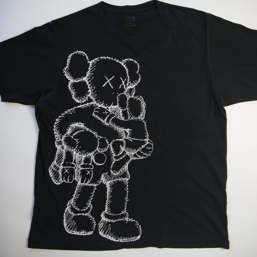Kaws x Uniqlo Clean Slate Companion Tee Black (Large / USED)