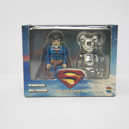 Medicom Toy Bearbrick / Kubrick Superman Returns 100% Figure Set (NEW)