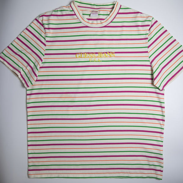 Guess Jeans x Sean Wotherspoon Farmers Market Stripe Tee (XL / USED)