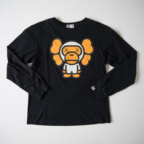 Bape x Kaws Baby Milo Long Sleeve Tee (Medium / USED)