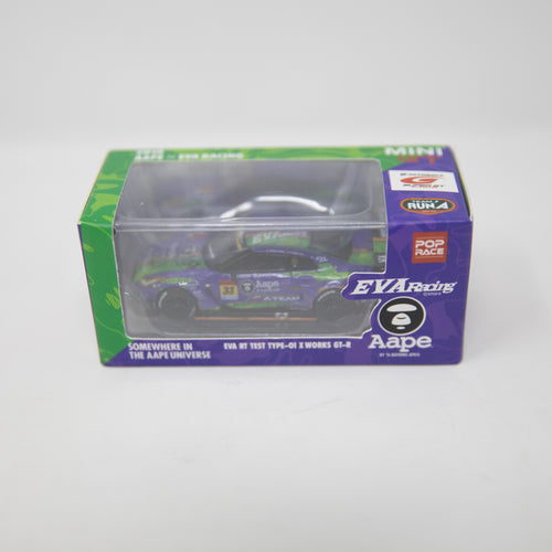 Aape x EVA Racing Test Type-01 X Works Nissan GT-R GT3 1:64 Diecast Car (NEW)