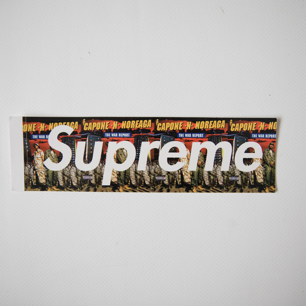 Supreme Capone-N-Noreaga The War Report Box Logo Sticker (MINT)