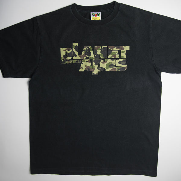 Bape Planet Of The Apes Camo Tee (Large / USED)