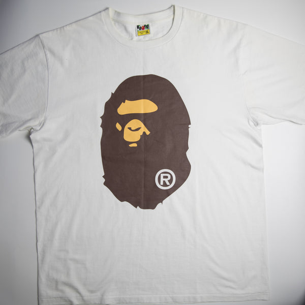 Bape Ape Head Tee With Backprint (XXL / USED)