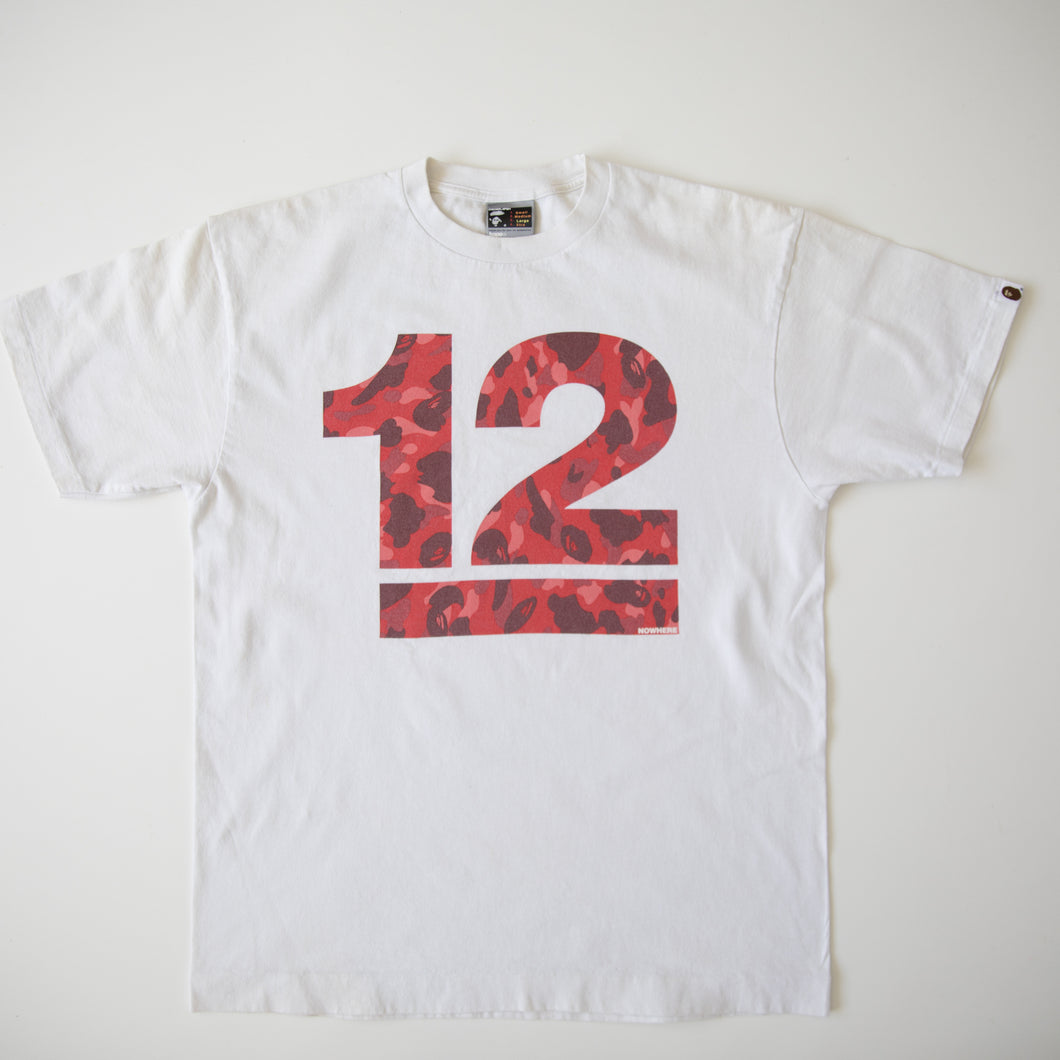 Bape Red Camo 12th Anniversary Tee (Large / USED)