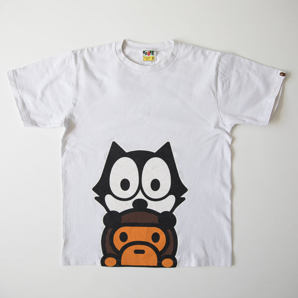 Bape x Felix The Cat Baby Milo Tee (Medium / USED)