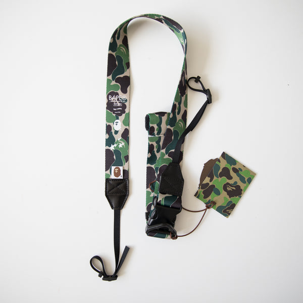 Bape Green Camo Camera Strap (NEW)