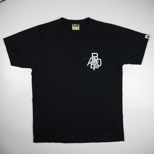 Bape Intertwined Tee Black (Medium / USED)