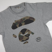 Bape Green Camo Ape Face Tee (Small / USED)