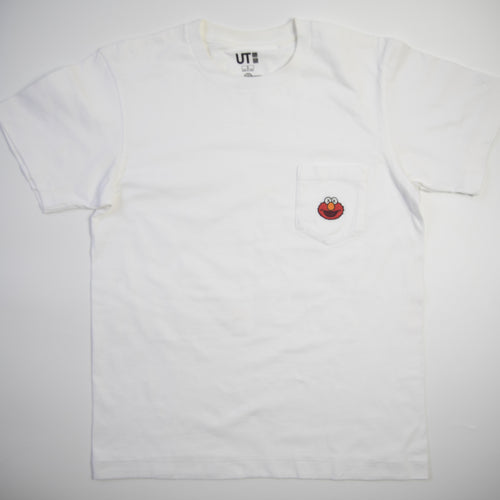 Kaws x Sesame Street Uniqlo Elmo Pocket Tee (Small / USED)