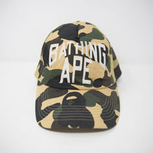 Bape Green Camo Logo Hat (USED)