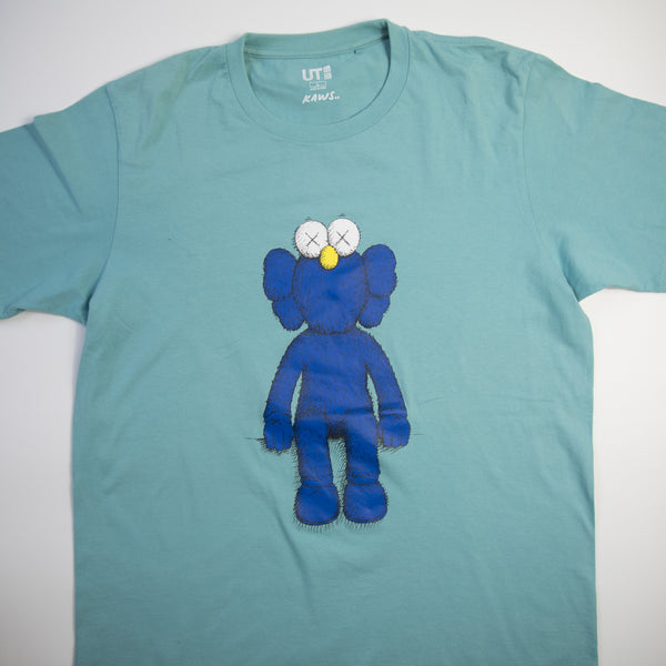 Kaws x Uniqlo Blue BFF Tee Teal (Large / USED)