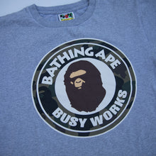 Bape Green Camo Busy Works Tee (Small / USED)