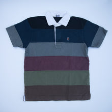 Bape Striped Polo Shirt (Small / USED)