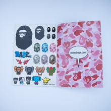 Kaws x Bape Spring / Summer 2005 Collection Magazine + Kaws x Bape Sticker Sheet (USED)