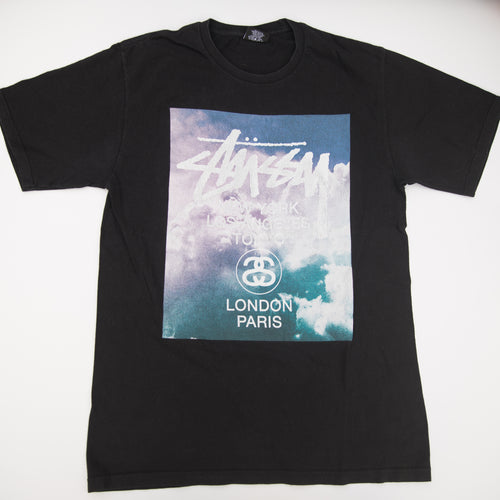 Stussy Cloudy World Tour Tee (Medium / USED)
