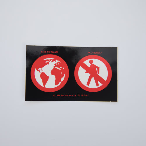 Supreme Save The Planet Sticker Black (MINT)