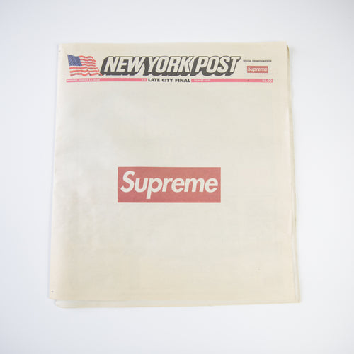 Supreme New York Post Newspaper (USED)