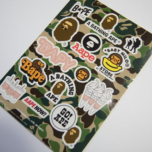 Bape Bapesta Baby Milo Sticker Sheet (MINT)