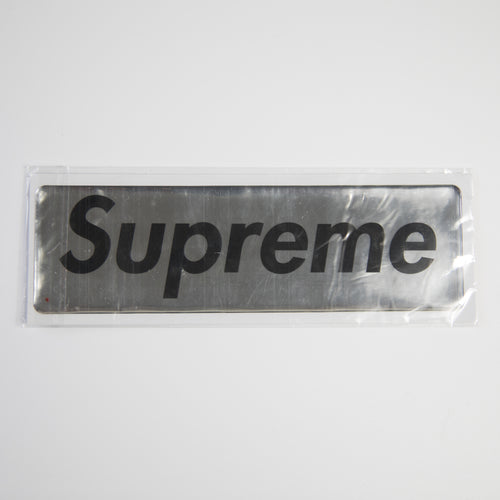 Supreme Plastic Silver Box Logo Sticker (MINT)