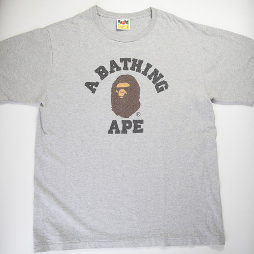 Bape Glitter College Tee (Large / USED)