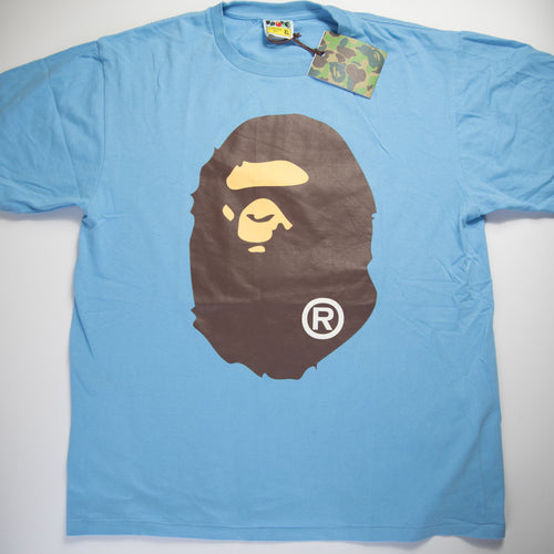 Bape Ape Head Tee Blue (XL / USED)