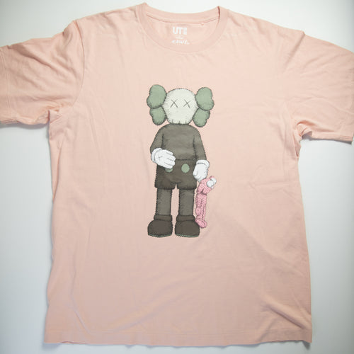 Kaws x Uniqlo Companion & BFF Tee Pink (Large / USED)