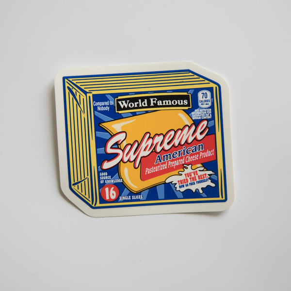 Supreme Cheese Sticker (MINT)