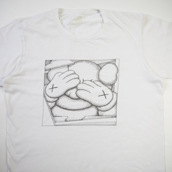 Kaws Chum Tee White (Large / USED)