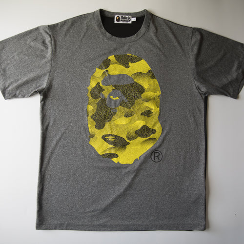 Bape Yellow Camo Jersey Tee (Large / USED)