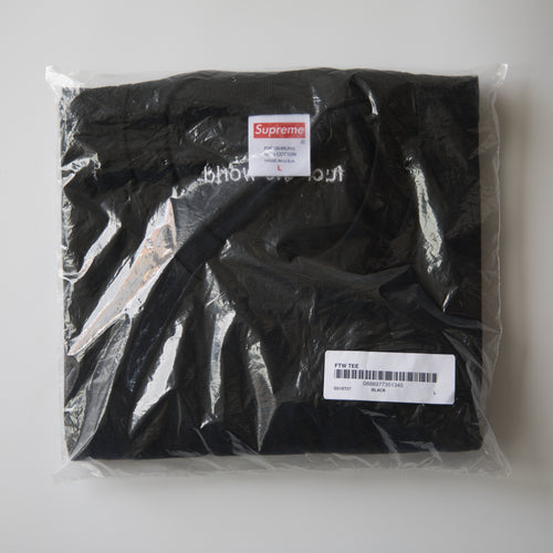 Supreme Fuck The World Tee Black (Large / NEW)