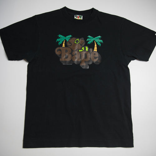 Bape Baby Milo Bear On Logo Tee (Medium / USED)