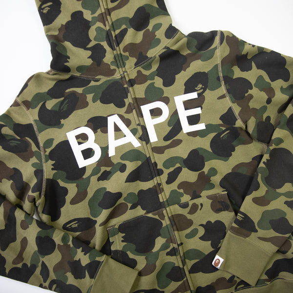 Bape Camo Full Zip Hoodie (Medium / USED)