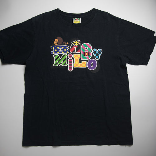 Bape Baby Milo Font Tee (Medium / USED)